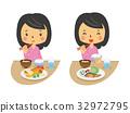 膳食孕妇[双头和系列] 32972795