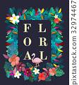 Blossom floral natural flat design 32974467