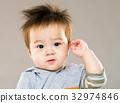 Cute baby boy salute 32974846