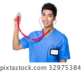 Doctor man using the stethoscope 32975384