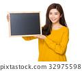 woman blackboard board 32975598