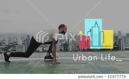 Urban Living City Lifestyle Society Graphic 32977779