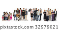 Diversity of People Generations Set Together Studio Isolated 32979021