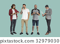 Group of people with digital devices communication technology 32979030