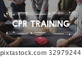 CPR Training Demonstration Class Emergency Life Rescue 32979244