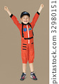 Little boy with astronaut dream job smiling 32980151