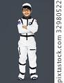 Young Boy in Astronaut Costume Studio Portrait 32980522