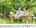 ครอบครัว,ปิกนิก,พืชสีเขียว 32980717