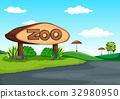 scene, zoo, tropical 32980950