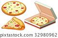Pizza in paper box 32980962
