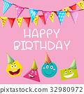 card, template, birthday 32980972