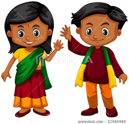 Boy and girl from Srilanka 32980989