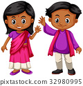 white, child, India 32980995
