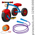 Tricycle and other toys 32981000