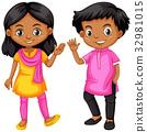 girl, boy, India 32981015