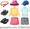 Girl and boy uniform set 32981016