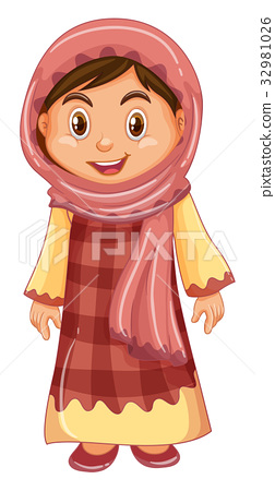 Irag girl in traditional costume 32981026