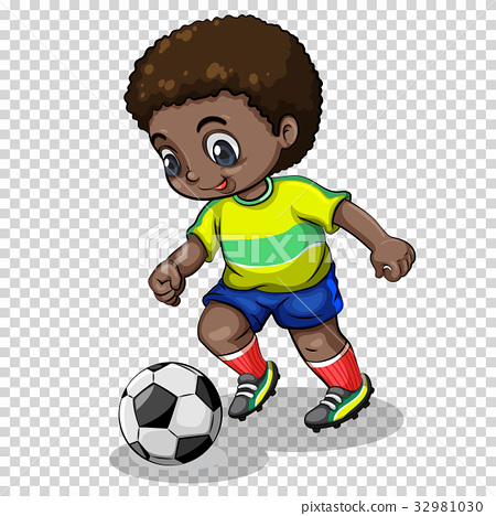 player playing football on transparent background 32981030