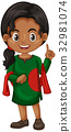 Bangladesh girl in green costume 32981074