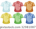 Shirt templates in different colors 32981087