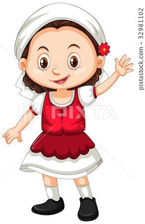 Romania girl waving hello 32981102