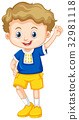 Cute boy with happy face 32981118