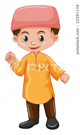 Afghanistan boy in yellow shirt 32981149