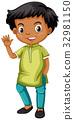 Indian boy waving hand 32981150