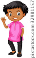 Boy from India in pink shirt 32981157