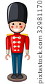 Plastic soldier toy in uniform 32981170