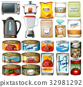 Canned food and electronic kitchen devices 32981292