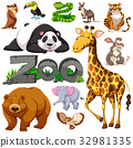 Zoo and different types of wild animals 32981335
