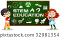 Two kids with stem education on board 32981354