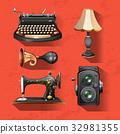 item, vintage, background 32981355