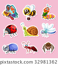 Sticker designs for different bugs 32981362