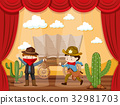 Stage play with two cowboys 32981703