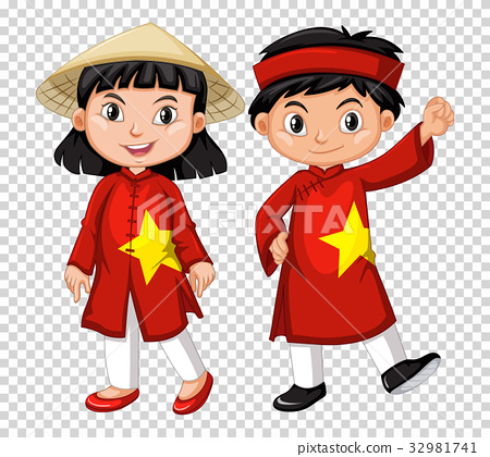 Boy and girl from Vietnam 32981741