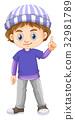 character, boy, vector 32981789
