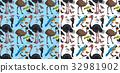 Seamless background with wild birds 32981902