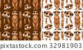Seamless background design with meerkats 32981903