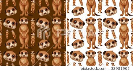 Seamless background design with meerkats 32981903