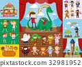 Children and school drama scenes 32981952