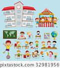 School scenes with kids in classroom 32981956