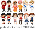 Children from different countries 32981964