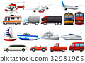 Different types of transportations 32981965