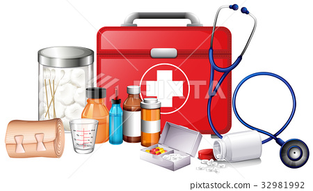 Different types of medical equipments 32981992