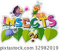 tropical bug sticker 32982019