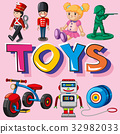 Different types of toys 32982033