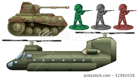 Military vehicles and soldier toys 32982038