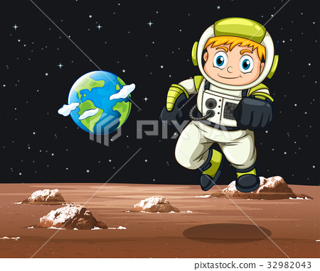 Astronaut flying in space 32982043